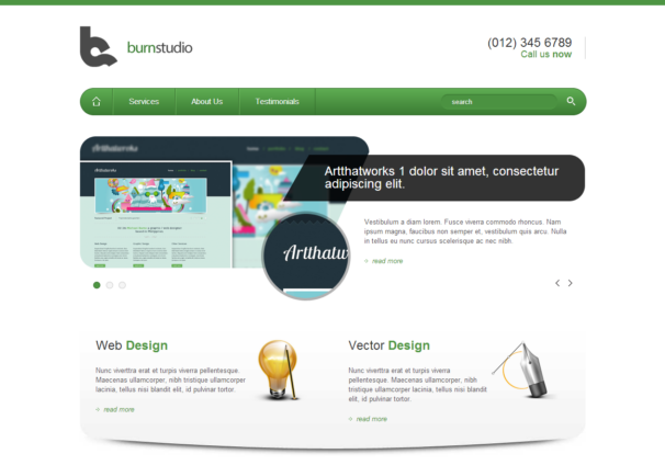 Burnstudio Responsive Html5 Themes Templates